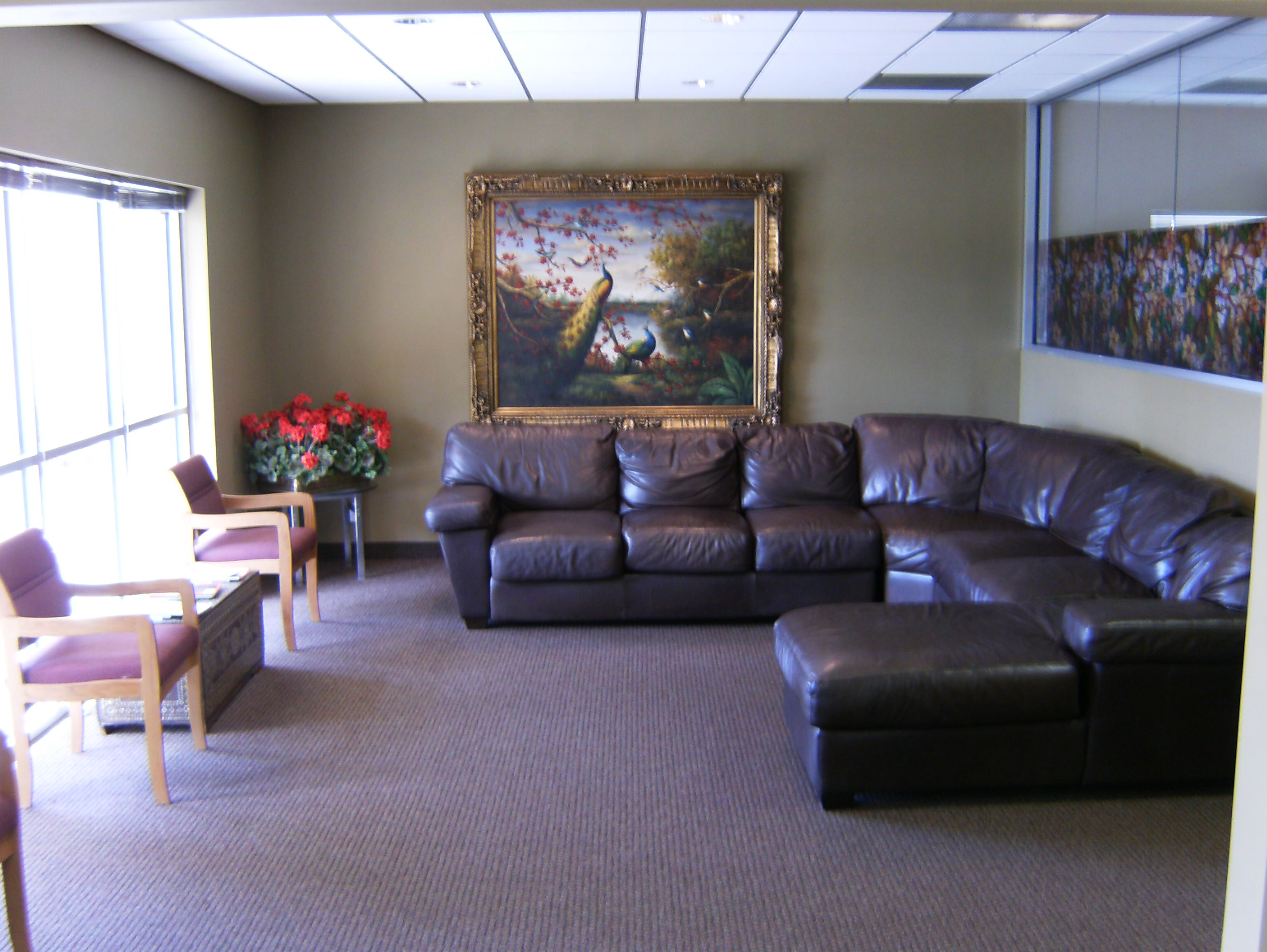 our relaxing and pleasant waiting room